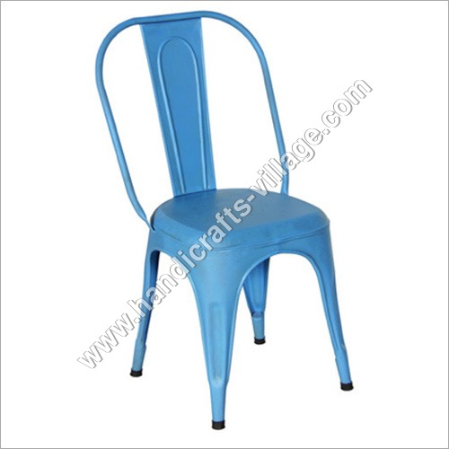 Sky Blue Metal Chair