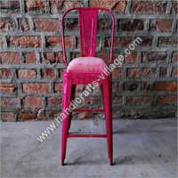 Pink Color Bar Chair