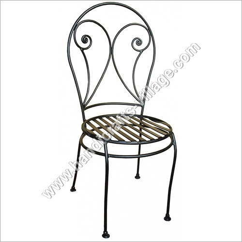 Outdoor Metal Chair Without Armrest