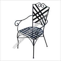 Metal Outdoor Chair With Armrest