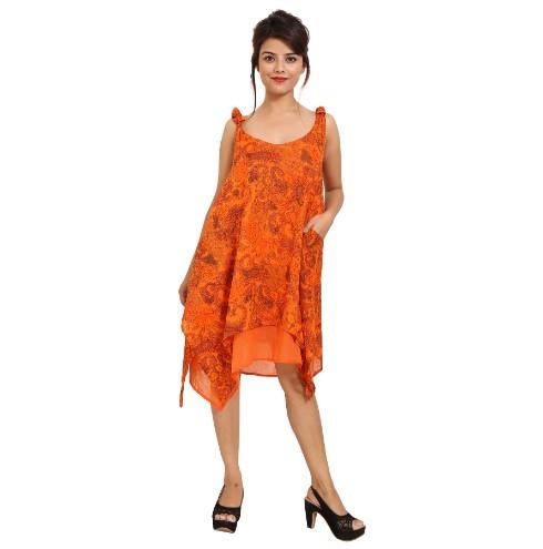 Cotton Printed Sleeveless Dress