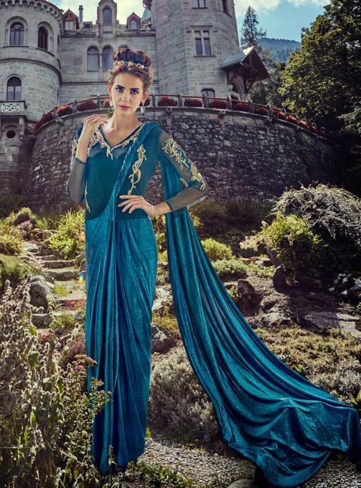 jinaam gowns net designer hand work dress long