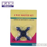 FIT TOOLS Universal 4-Way Drill Chuck Master Key (4 Sizes)