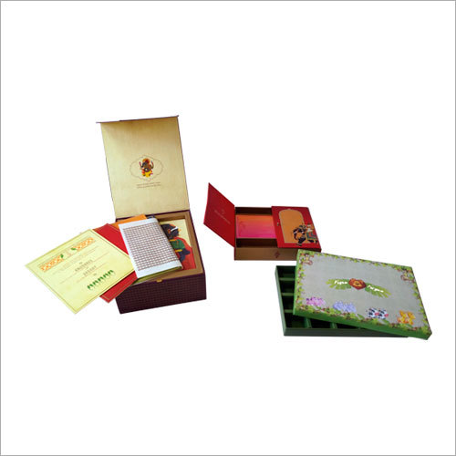 Printed Wedding Card Packaging Box