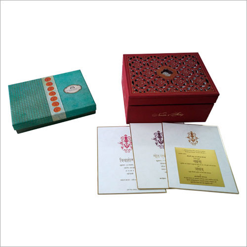 Customized Wedding Card Packaging Boxes