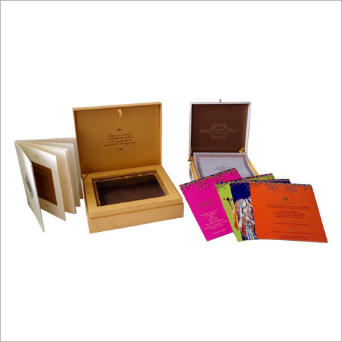 Designer Wedding Card Packaging Boxes