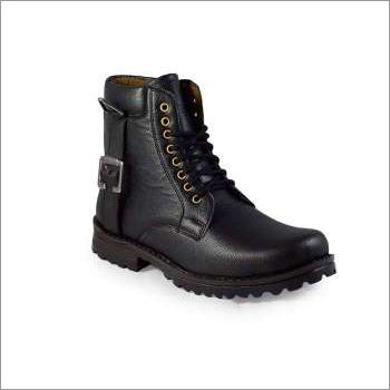 Men High Ankle Black Boot