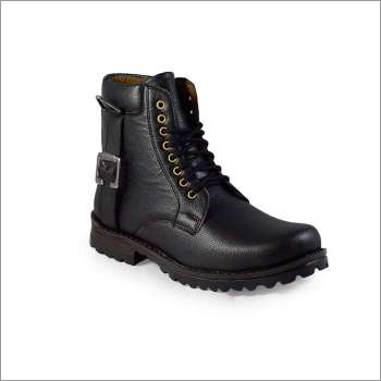 Men High Ankle Black Boot