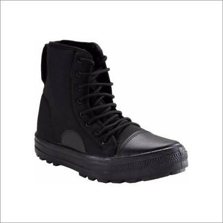 Mens Black Canvas Jungle Boot
