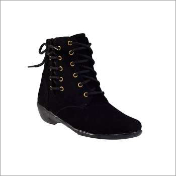 Women High Ankle Black Boots