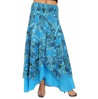 Cotton Printed Party Wear Long Skirt