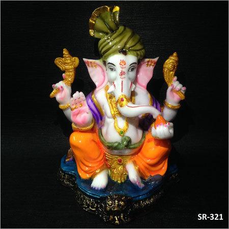 8 Inches Lord Pagdi Ganesh