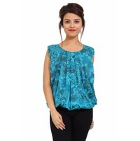 Cotton Printed Party Wear Top