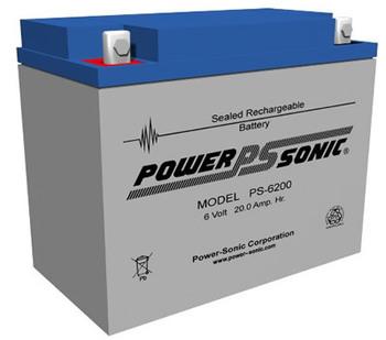 Powersonic 6V, 20 AH Sealed Lead Acid Battery