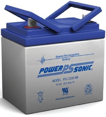 Powersonic 12V, 33AH Sealed Lead Acid Battery