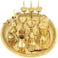 Puja Thali With Eleven Ritual Items