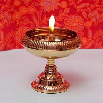 Frestol Kerala Multicolour Brass Durable Diya