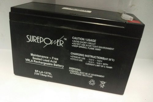 Surepower 12V, 7AH Sealed Lead Acid Battery