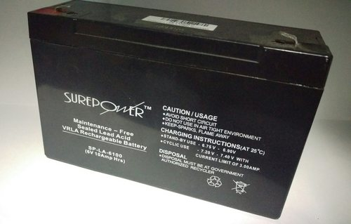 Surepower 6V, 10AH Sealed Lead Acid Battery