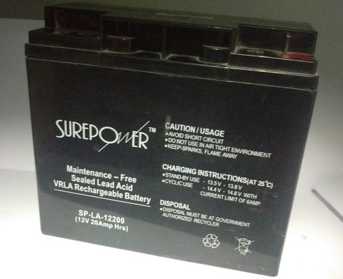 Surepower 12V, 20AH Sealed Lead Acid Battery