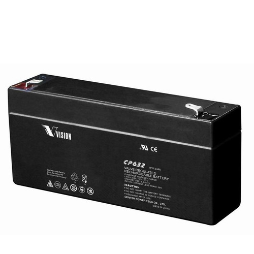 Vision 6V, 3.2AH Sealed Lead Acid Battery, CP-632