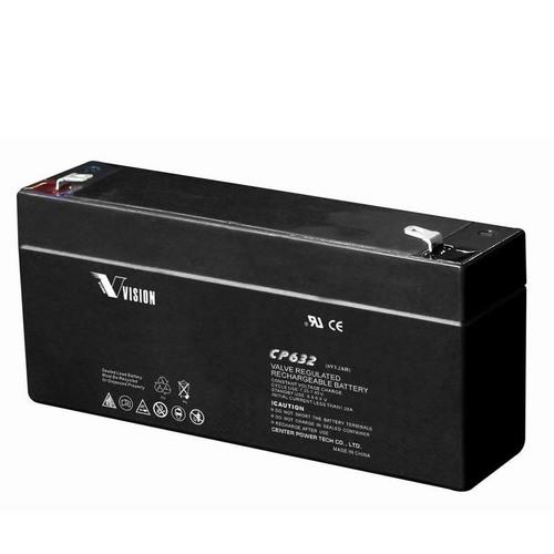 Vision 6V, 3.2AH Sealed Lead Acid Battery, CP-632