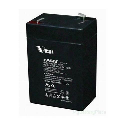 Vision 6V, 4.5AH Sealed Lead Acid Battery, CP-645