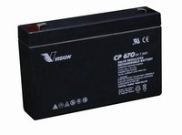Vision 6V, 7AH Sealed Lead Acid Battery, CP-670