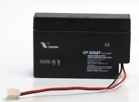 Vision 12V, 0.8AH Sealed Lead Acid Battery, CP-120