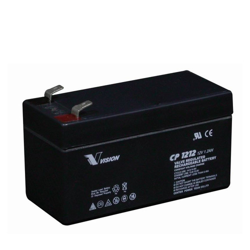 Vision 12V, 1.2AH Sealed Lead Acid Battery CP-1212