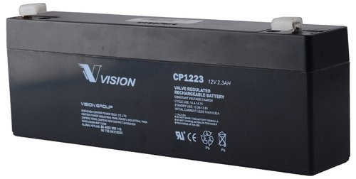 Vision 12V, 2.3AH Sealed Lead Acid Battery CP-1223
