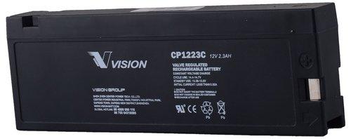 Vision 12V, 2AH Sealed Lead Acid Battery, CP-1223C