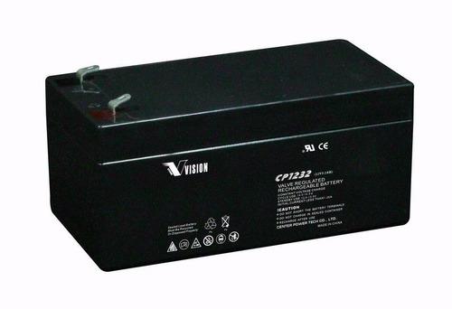 Vision 12V, 3.2AH Sealed Lead Acid Battery CP-1232