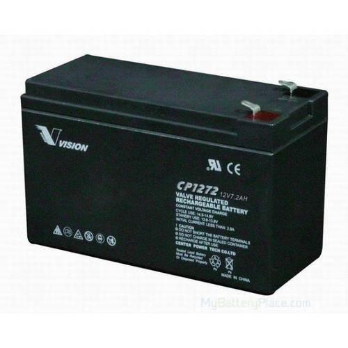 Vision 12V, 7.2AH Sealed Lead Acid Battery CP-1272