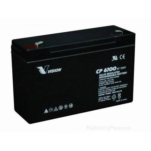 Vision 6V, 10AH Sealed Lead Acid Battery, CP-6100