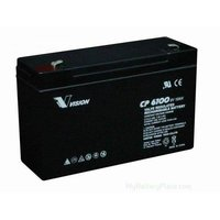Vision 6V, 10AH Sealed Lead Acid Battery, CP-6100