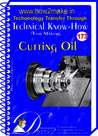 Cutting Oil Technical Know-How Report