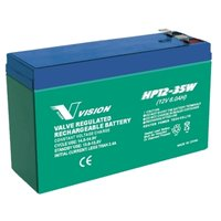 Vision 12V, 6AH Sealed Lead Acid Battery, HP-1235W