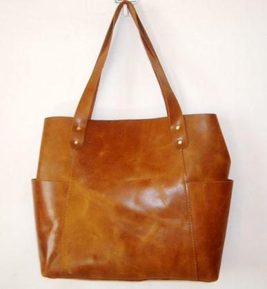 Brown Leather Tote Shoulder Hobo Bag
