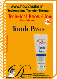Tooth Paste Technical Know-How Report Report