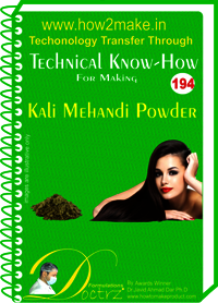 Kali Mahnadi Powder Technical Know-How Report