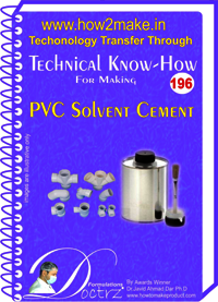 PVC Solvent Cement Technical Know-How Report