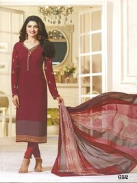 Rahi Fashion Prachi Desai MAROON COLOR Royal Crape Embroidered Straight Suit