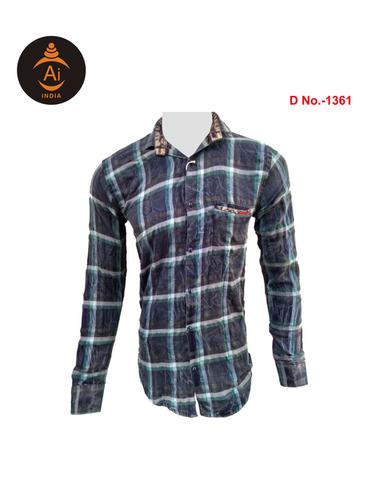 Men Cotton Checks Shirt