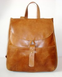 Handmade Brown Leather Vintage Style