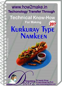 Kurkure Type Namkeen Technical Know-How Report