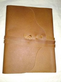 Large Vintage Leather Journal Diary