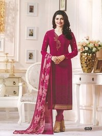 Rahi Fashion Prachi Desai PINK COLOR  Crape Embroidered Straight SuiT