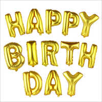 Foil Happy Birthday Balloon Gold Tone 13 In 1