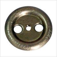 18g 3 Hole Round Brass Cup